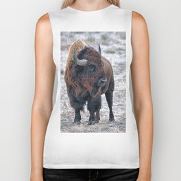 In The Presence Of Bison #society6 #decor #bison by Lena Owens @OLena Art Biker Tank