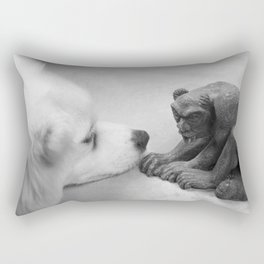 The Dog and The Gargoyle Rectangular Pillow