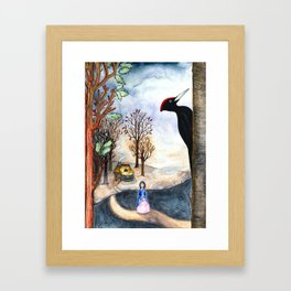 Black Woodpecker  Framed Art Print