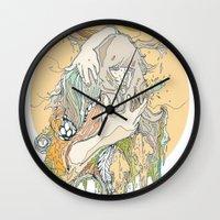 moss Wall Clocks featuring moss by Cassidy Rae Marietta