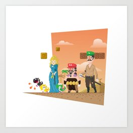 Super Mario GoT Art Print