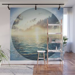 Bright Blue Horizons Wall Mural