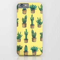 cactus on yellow iPhone 6s Slim Case