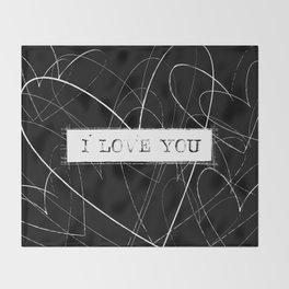 I Love Mom Word Art Throw Blanket