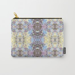 Purple Blossom Pattern Carry-All Pouch