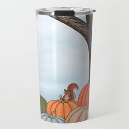 heirloom pumpkins, squirrels, & the oak tree Travel Mug
