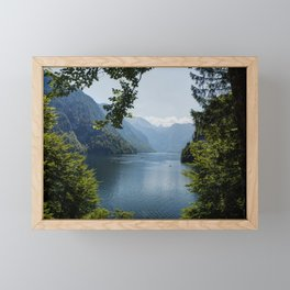 Germany, Malerblick, Mountains - Alps Koenigssee Lake Framed Mini Art Print