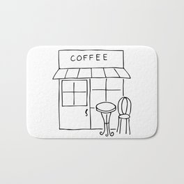 Little Coffee House // Cafe Sketch Bath Mat