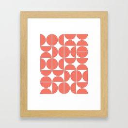 Mid Century Modern Geometric 04 Living Coral Framed Art Print