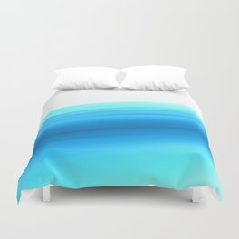 Turquoise Aqua Ombre Duvet Cover