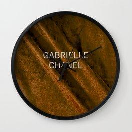 coco gabrielle bronze edition Wall Clock