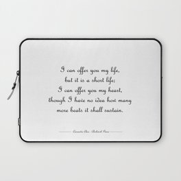 I offer you my life - Jem Carstairs WHITE Laptop Sleeve