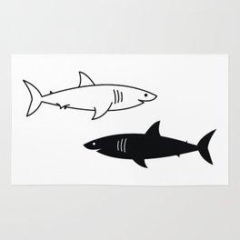 B/W Shark Rug