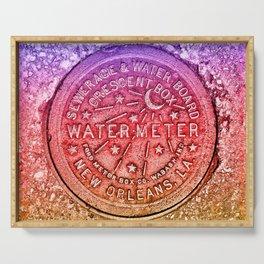 New Orleans Water Meter Louisiana Crescent City NOLA Water Board Metalwork Rainbow Gay Pride Serving Tray