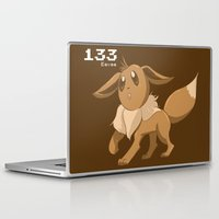 eevee Laptop & iPad Skins featuring Pkmn #133: Eevee by Michelle Rakar