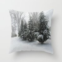 tennessee Throw Pillows featuring Tennessee Snow by Orlando Gurrola