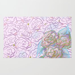 Rosy Floral Rug