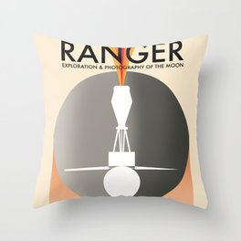 Ranger Exploration & Photography of the Moon Throw Pillow