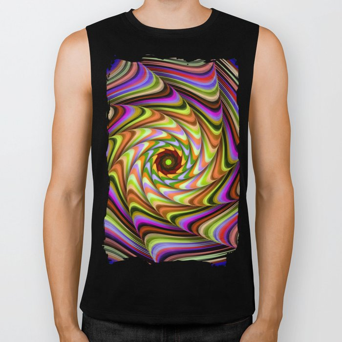 Colourful psychedelic motion Biker Tank