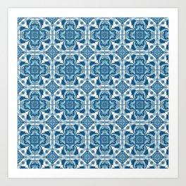 Pugs Tiles Art Print