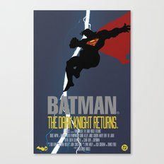 Supes Knight Returns Canvas Print