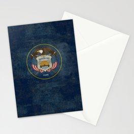 Utah State Flag, vintage retro style Stationery Cards