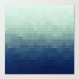 Gradient Pixel Aqua Canvas Print