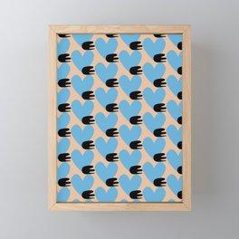 Bullet heart Framed Mini Art Print