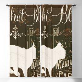 Chat Blanc Blackout Curtain