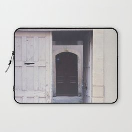 Cottage Doors in Bayeux Laptop Sleeve