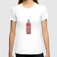 sriracha T-shirts featuring Sriracha Hot Sauce by Connie Luebbert