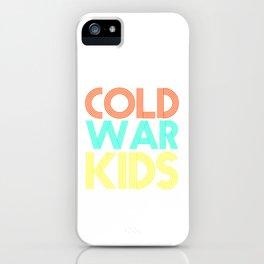 Cold War Kids Vintage 80s Neon Colors Veteran Patriotic Day Humor Gift Pun Cool Design iPhone Case