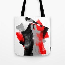 dancing abstract red white black grey digital art Tote Bag