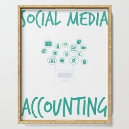 Social Media Can Wait For Accounting Serving Tray