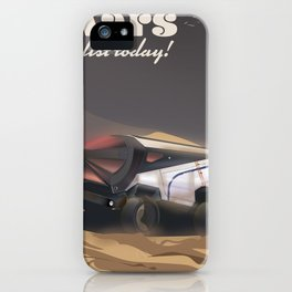 Mars, Enlist Today! Mars Rover travel poster iPhone Case