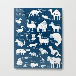 Animal Alphabet #2 Metal Print