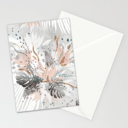 Tropical Silver Stationery Cards