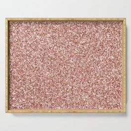 Blush Pink Glitter Serving Tray