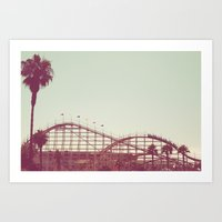 coasters Art Prints featuring Coasters Views by Diem Design