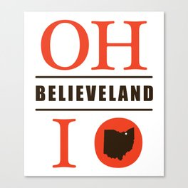 Believeland Canvas Print