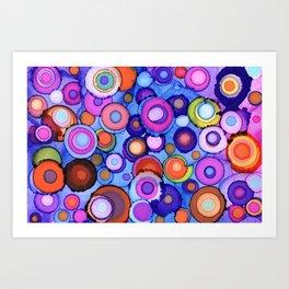 Psychedelic Circles Art Print