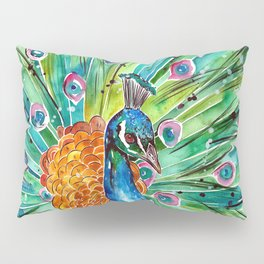 Vibrant Peacock Pillow Sham