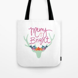 Merry & Bright PINK! Tote Bag