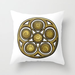 Crest of the Great Nations Throw Pillow