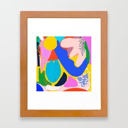Unbridled Enthusiasm - Shapes and Layers no.38 Framed Art Print
