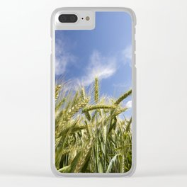 green wheat Clear iPhone Case