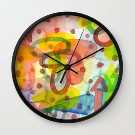 Blurry Mushroom and other Things Wall Clock