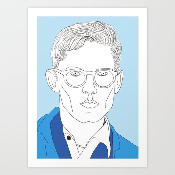 Blue boy Art Print
