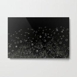 Flower   Flowers   Flowers at Midnight   Black Metal Print