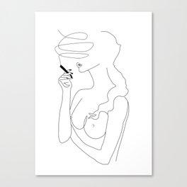 Woman Smoking Leinwanddruck